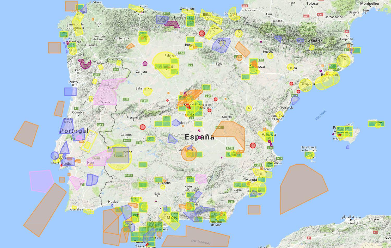 Mapa Zonas Vuelo Drones.Donde Volar Drones Por Hobby En Espana Volair Foto Y