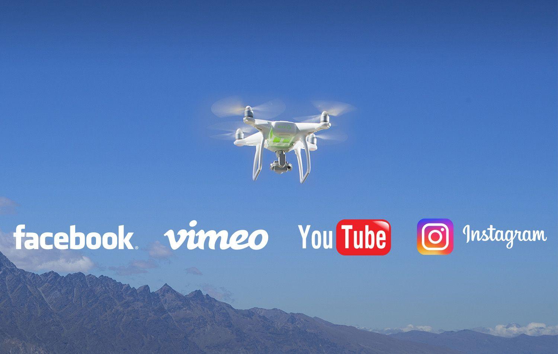 ¿Puedo publicar vídeos y fotografías de mi drone en redes sociales, webs, Youtube o Vimeo?
